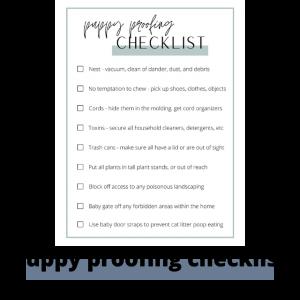 puppy proofing checklist