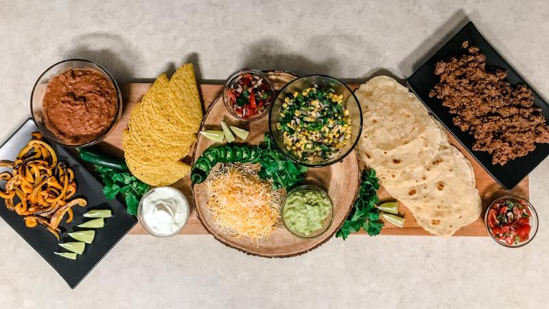 How To Make A Taco Charcuterie Board