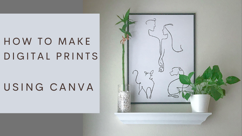 How To Make Digital Prints Using Canva